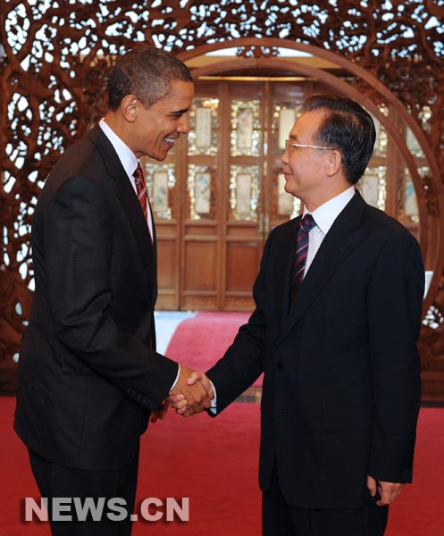 Barack Obama eta Wen Jiabao